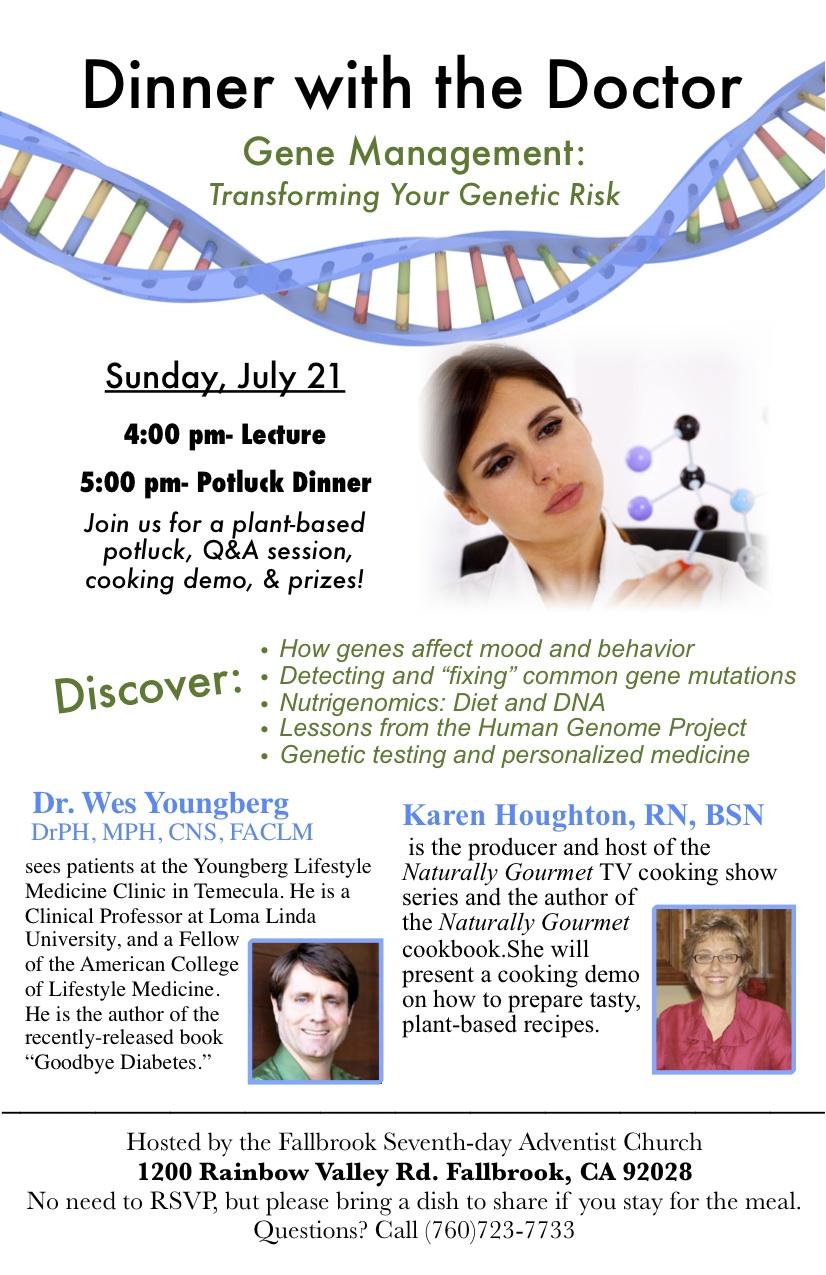 Gene Management flyer